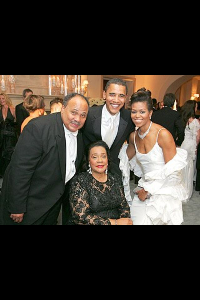 Martin Luther King III , Barack Obama, Coretta Scott King and Michelle Obama