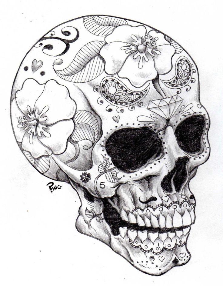 Adult Coloring Pages | Adult coloring pages | Pinterest | Skull ...