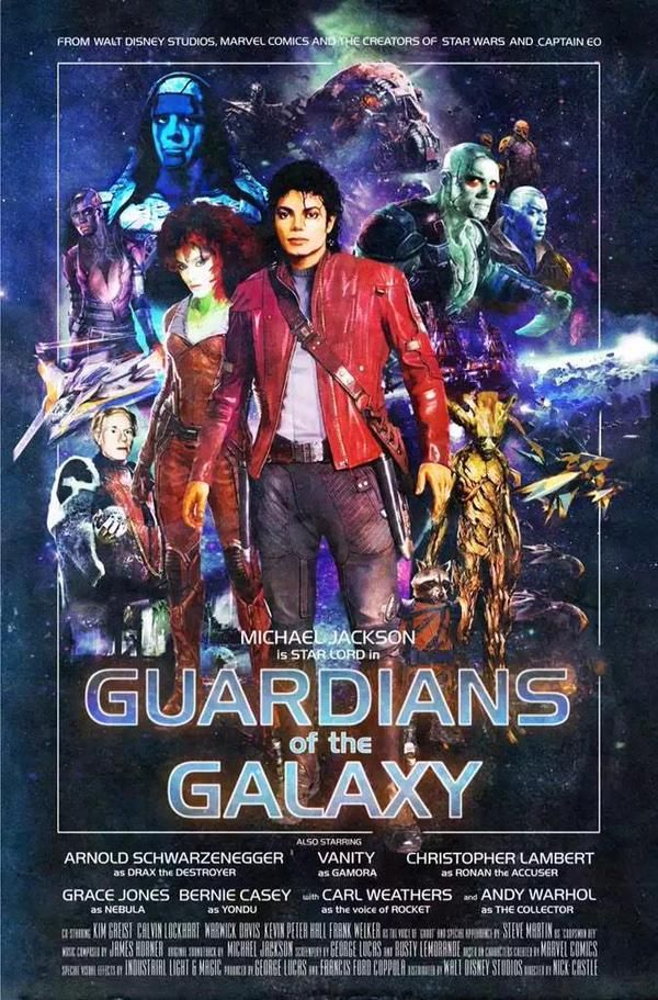 #MichaelJackson fan made poster for Marvel's Guardians of the Galaxy, 2014