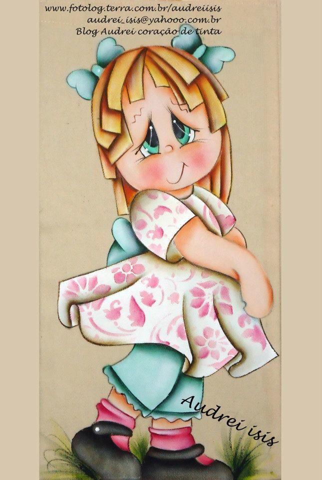 audrey isis pintura em tecido