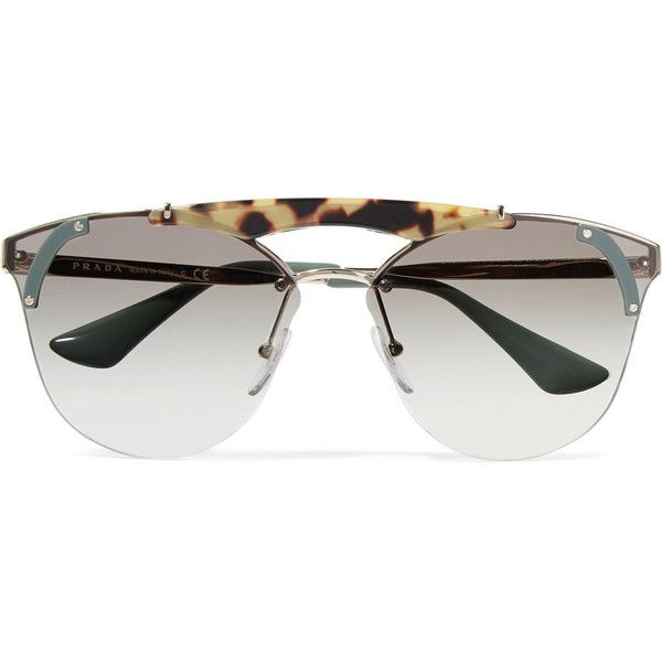 Prada Cat-eye acetate and gold-tone sunglasses ($420) ❤ liked on Polyvore featuring accessories, eyewear, sunglasses, tortoiseshell, cat eye sunglasses, prada glasses, tortoise shell sunglasses, tortoise cat eye sunglasses and tortoise cat eye glasses