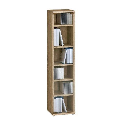 Media Storage Rack Tower Cd Dvd Blu Ray Wood Multimedia Display Unit Shelves