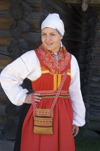 Kvinnodräkt från Mora, Dalarna