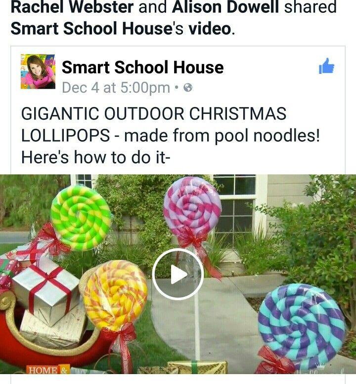 Pool Noodle Lollipops Christmas Pinterest Pool