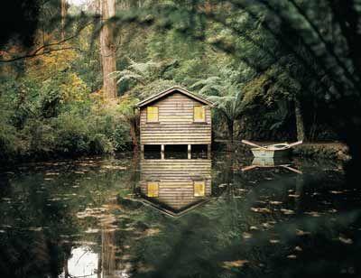 The Boat House, Alfred Nicholas Gardens, Sherbrooke, Dandenong Ranges. Victoria. Australia