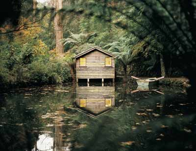 The Boat House, Alfred Nicholas Gardens, Sherbrooke, Dandenong Ranges. Victoria. Australia