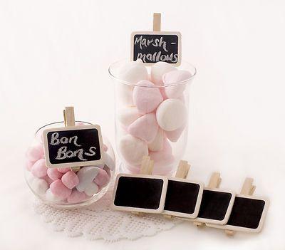 Mini Clip ON Chalkboards Lolly Buffets Dessert Tables Wedding Favours 6 | eBay