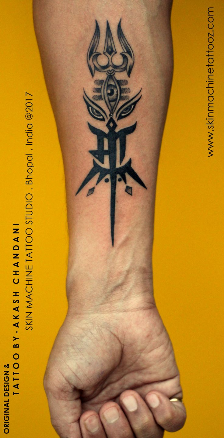 Custom Maa with Shiva Durga elements Tattoo by AKash Chandani