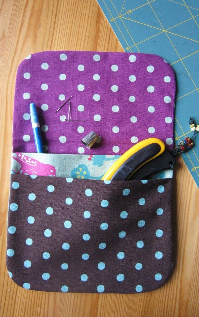 Pochette finitions invisibles avec deux poches