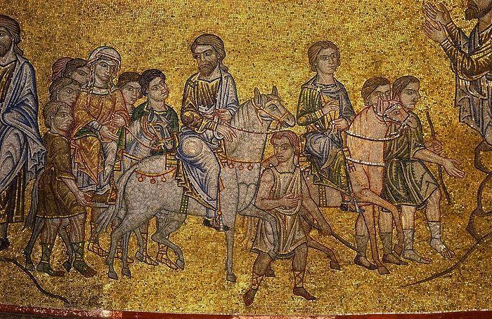 Авраам идет в землю Ханаанскую. Собор Святого Марка, Венеция