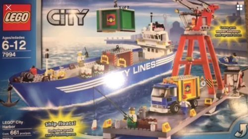 Lego City Transport Harbour (7994) HTF NEW IN BOX. FLOATS TOO !!