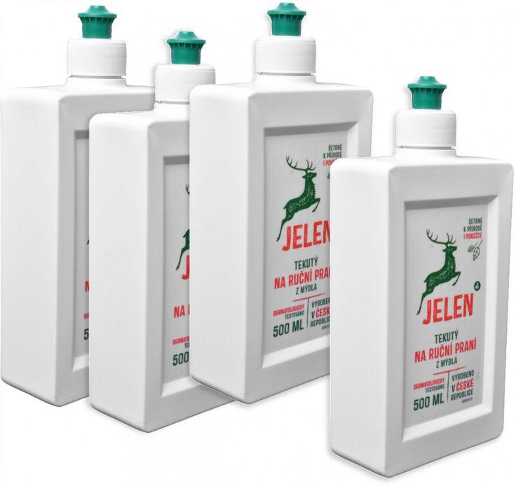 Jelen   Tekuté mýdlo na ruční praní 4x 500 ml  | MALL.CZ