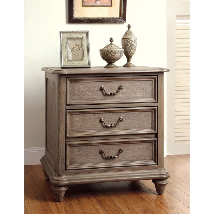 Furniture Of America Minka Rustic Grey Nightstand Great Pictures