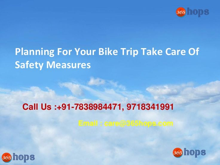 Planning For Your Bike Trip Take Care Of Safety Measures  >>> Travelling on a bike is the most conventional way to enjoy during the trip. Beautiful landscapes on both the sides, the freedom of stopping whenever you want, ability to navigate through traffic better, that amazing feeling of the cool breeze hitting against your face, Oh there are lots of things to describe the beauty of riding a bike.  #BikeTours #RoadTrips #BikeRides