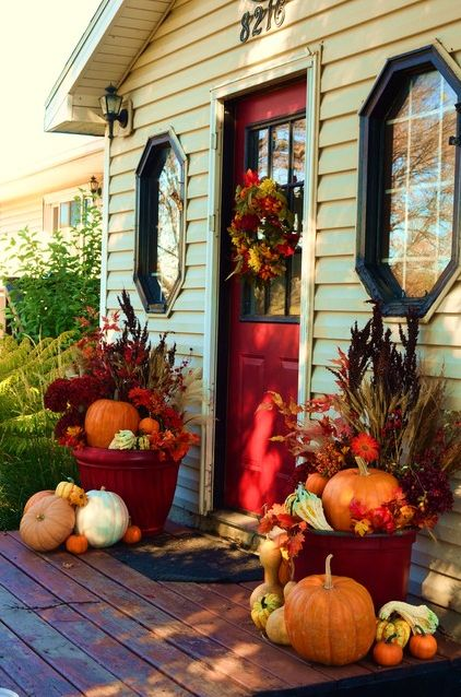 Autumn Porch Vignette