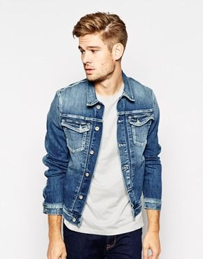 Pepe Denim Jacket Rooster Slim Fit Stretch Tied Tint Wash $164.45