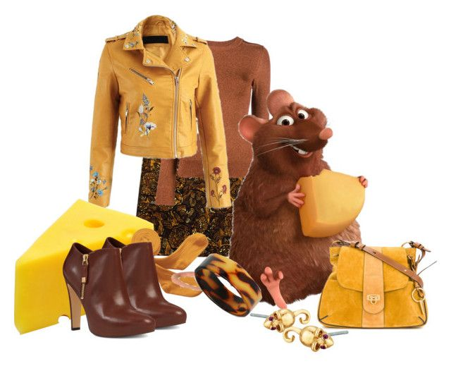 """Emile (Ratatouille, Disney)"" by funnfiber ❤ liked on Polyvore featuring Etcetera, JoosTricot, MIEL, Marc Jacobs, Chloé, Bling Jewelry and Nine West"