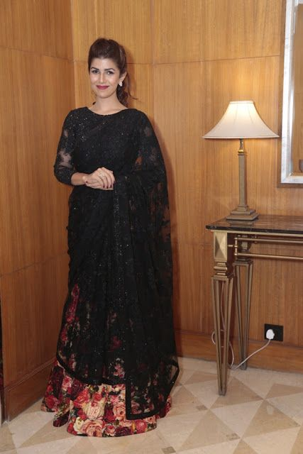 Nimrat Kaur Looking Stunning Black Lehenga Saree                                                                                                                                                                                 More