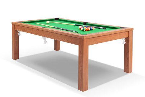 629€  -  Billard convertible en table de salle à manger Defaistre merisier tapis vert