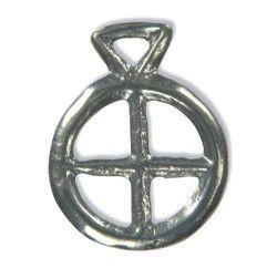 Solhjul  Solhjulet som amulet fra den yngre bronzealder, ca. 800-600 f.Kr. En amulet er genstand, som tillægges magisk kraft. Den afværger ondt og bringer lykke. Originalen er udstillet på Forhistorisk Museum Moesgård.