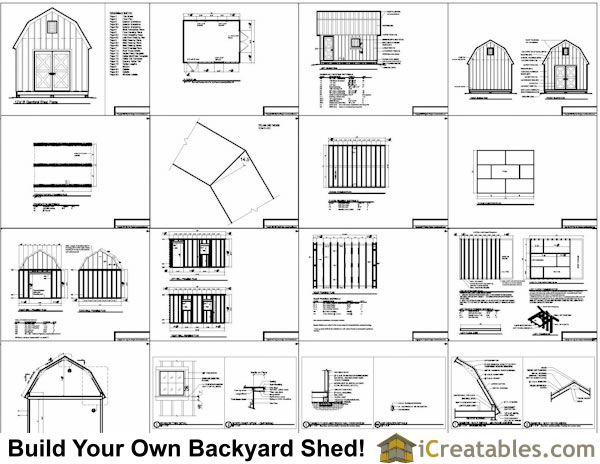 Best 25 shed plans 12x16 ideas on pinterest shed plans for Free gambrel shed plans with loft