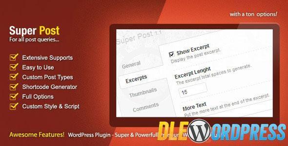 Super Post v2.0.7  WordPress Premium Plugin Free at DLEWordPRess