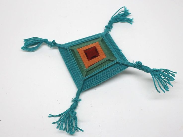 A primitive form of star weaving, reminiscent of a dreamcatcher, Ojo de Dios, or God's Eyes (Tzicuri) are still woven today by the Huichol Indians of Mexico. The idea is to use bright colors to serve as an eye to watch over others...