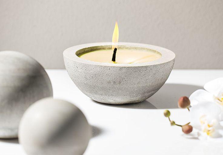 Citronella Kerze aus Kreativ Beton | buttinette Blog