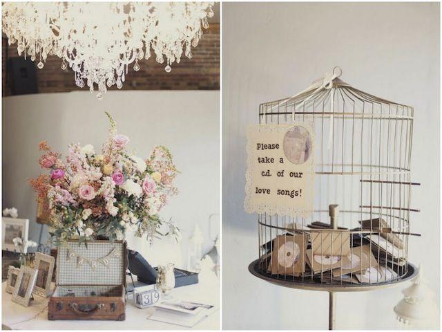 Gastgeschenke für die Hochzeitsgesellschaft auf der Vintage-Hochzeit