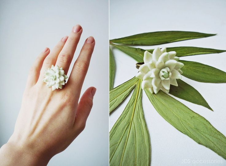 JDS Accessories by Natasha Kolesova 💚SUCCULENT RING💚 Polymer clay, handicraft Limited edition Buy now http://vk.com/market-20101066 #JDS #JDSaccessories #jdsfashion #accessories #handicraft #designerjewelry #NatashaKolesova #white #succulent #ring #polimerclay #fashiondetails #fashionart #popculture #nizhnynovgorod #ательеjds #украшения #бижутерия #аксессуары #ручнаяработа #дизайнерскиеукрашения #белый #суккулент #кольцо #полимернаяглина #НаташаКолесова #мода #детали #искусство