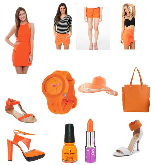 Orange Squeeze.  Orange will be a hot new colour heading into 2014.  Go bold with an all over block colour dress or just add a hint through some carefully selected accessories.