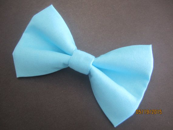 Baby blue bow tie Men's light blue bow tie boy by SewCuteSewCool