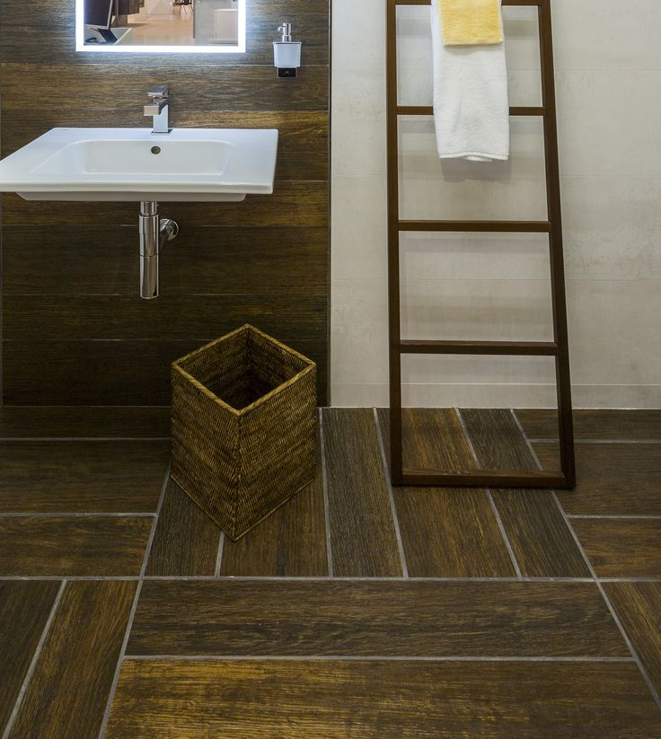 Hampton brown wood effect tiles by Porcelanosa in TileStyle