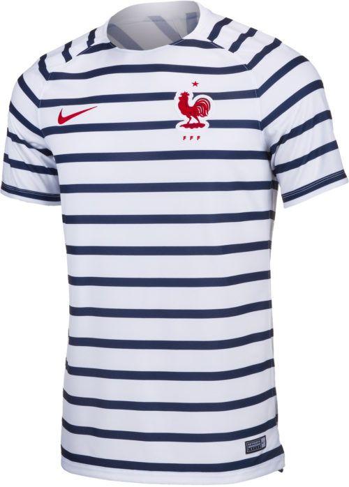 01ddaec51e Nike France Pre-Match Top – Youth – White University Red