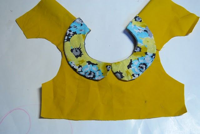 sew a flat collar - draft and sew a peter pan style collar.  Add to a different dress pattern?
