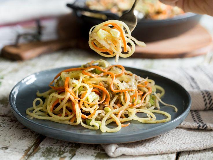 Ab an den Spiralschneider: Kartoffelgratin mit Gemüse