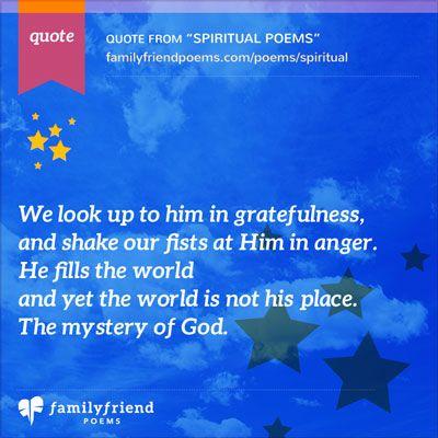 Family Friend Poems, Spiritual Poems