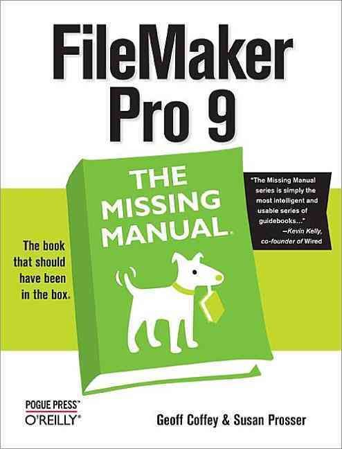Filemaker Pro 9 The Missing Manual (Paperback) Products, The - Download Numbers Spreadsheet For Mac