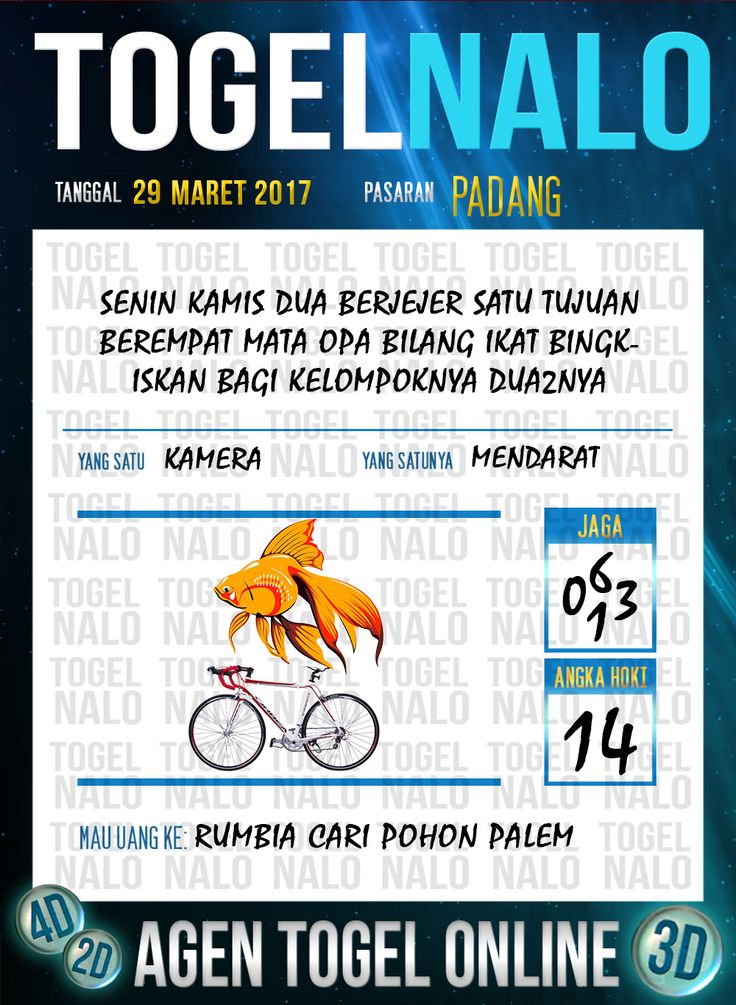 Kode Jitu 6D Togel Wap Online TogelNalo Padang 29 Maret 2017