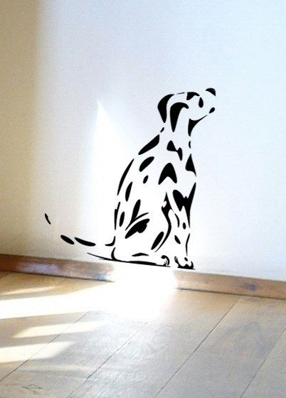 Spotty dog dalmation puppy wall or window decal by jolyonyates, $25.95