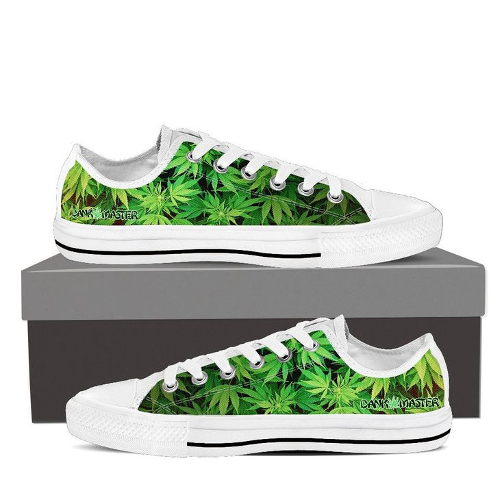 Dank Master Green Weed Low Top Canvas Shoes - 420 Stoner Fashion brand  https:/