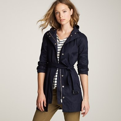 I need a trench! a grown up jacket that is a neutral that can be worn in many seasons and last for years, this one from J-Crew could be it!