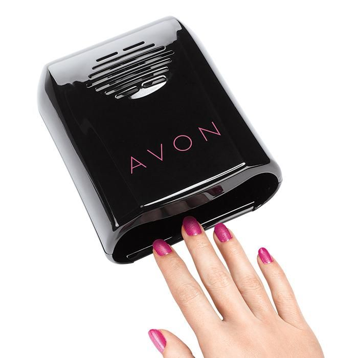Avon Pro Nail Dryer. Back by popular demand is the new and improved nail dryer that now features a convenient on/off switch and comes in a larger size so your hands fit more comfortably. It's lightweight and portable yet strong enough to dry your nail polish in a flash.