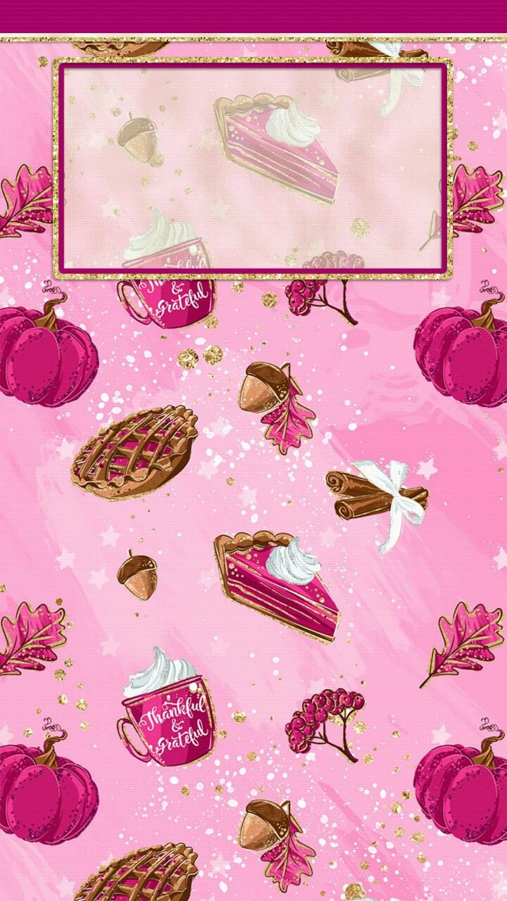 Pink Thanksgiving Iphone Lock Screen Wallpaper Pumpkin Wallpaper Thanksgiving Wallpaper Fall Wallpaper