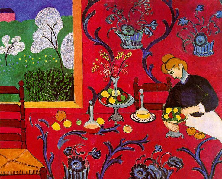 Henri Matisse, L'Atelier Rouge, 1911, Oil on canvas, MoMA, NYC, August 2013