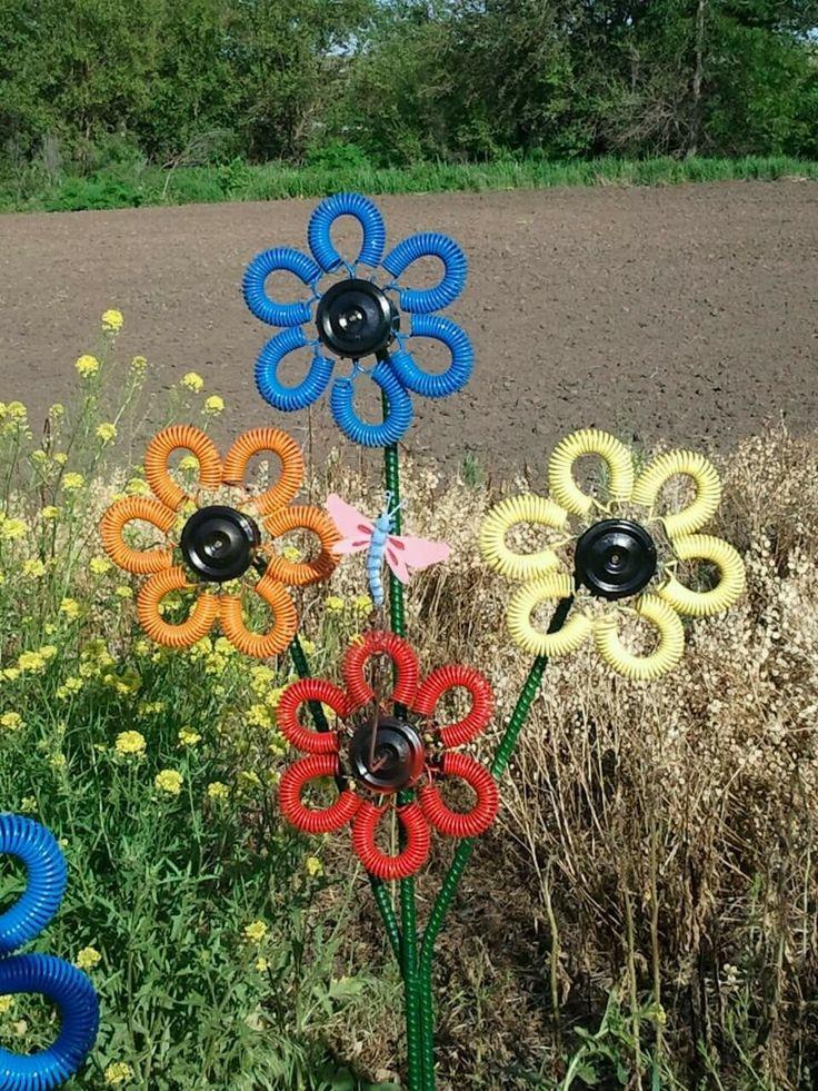 Trampoline spring flowers