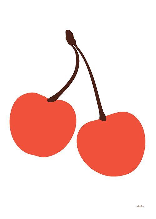 Körsbär affisch