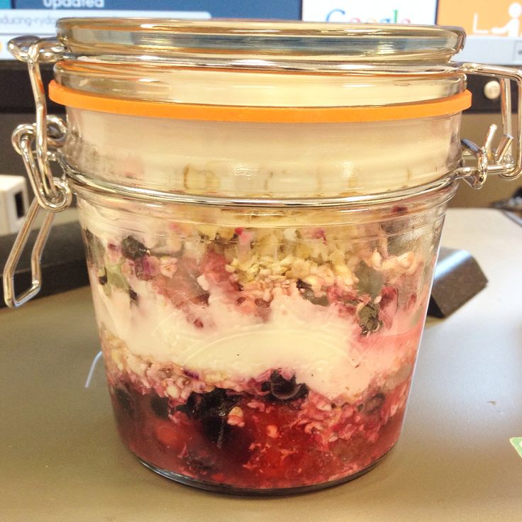 Overnight oats - slimming world.  A gorgeous breakfast to set you up for the whole day.