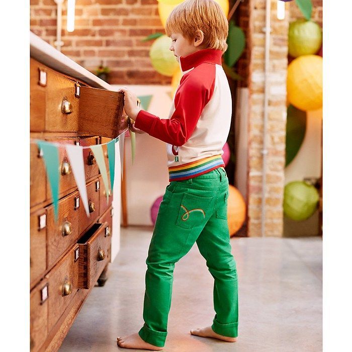 Mothercare Little Bird by Jools Green Twill Trousers