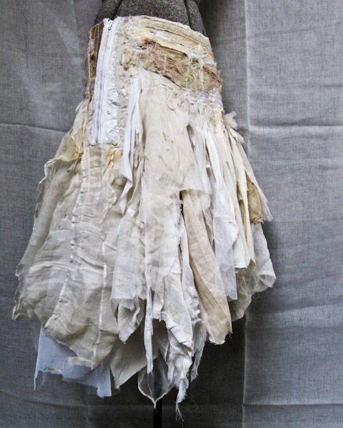Gypsy tattered skirt